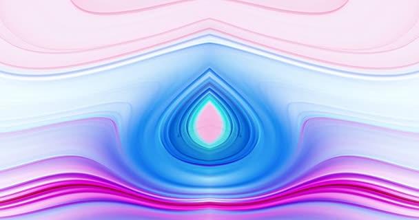 Tanec abstraktních vzorů barev na obrazovce