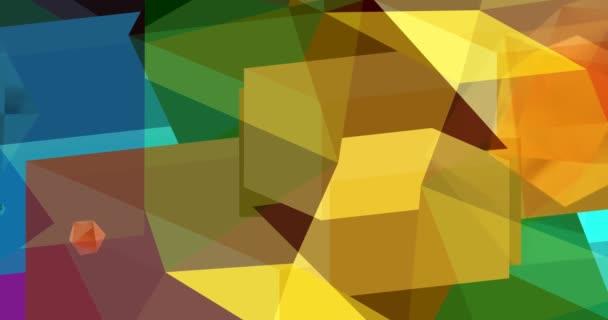 A színes geometria mozgást hoz létre a képernyőn