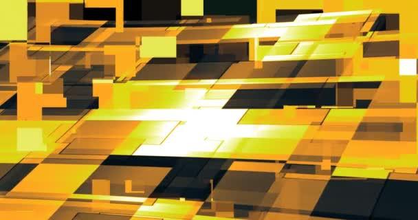 Geometrické vzory barev vytvářejí pohyb na obrazovce