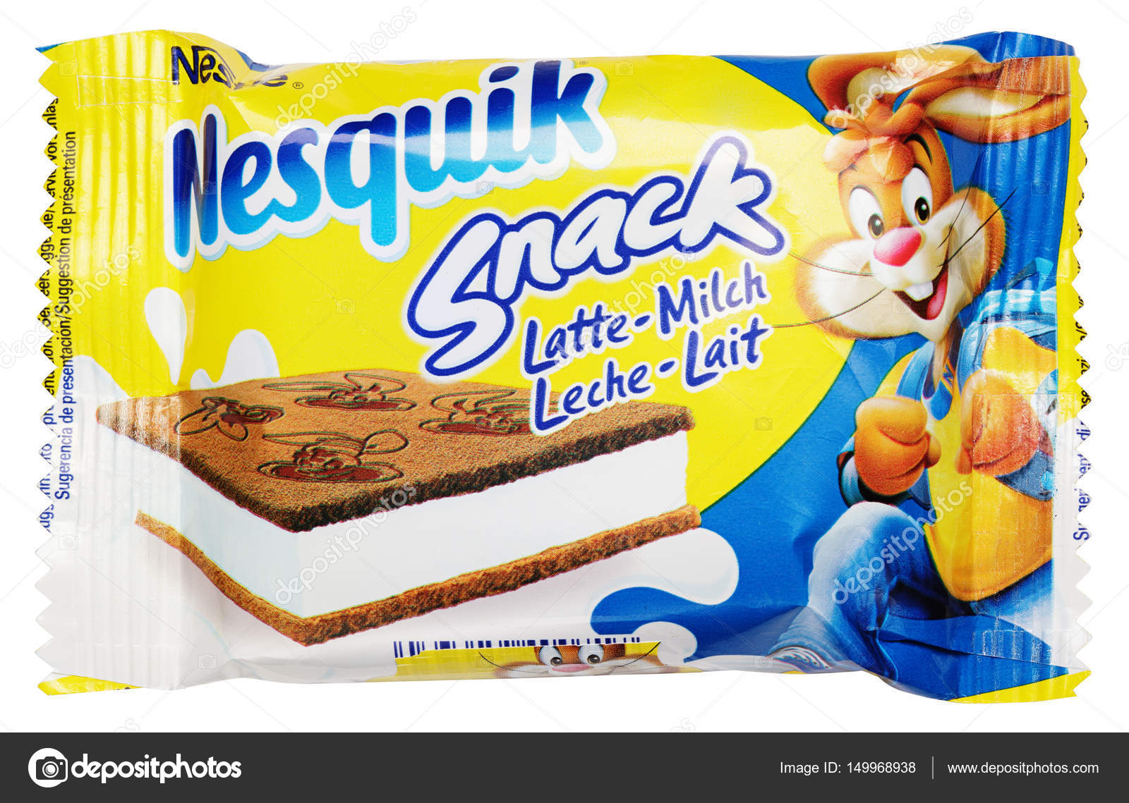 Nestle Nesquik Snack Isoliert Auf Weissem Hintergrund