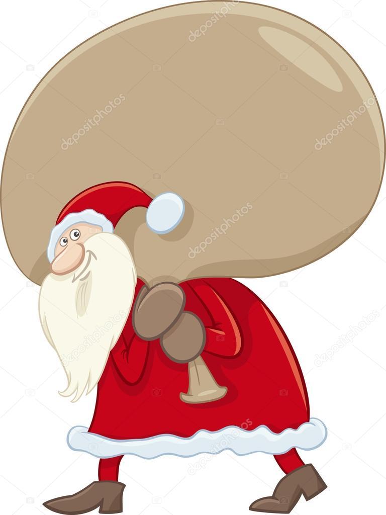 Immagini Babbo Natale Con Sacco.Babbo Natale Con Sacco Grande Vettoriali Stock C Izakowski
