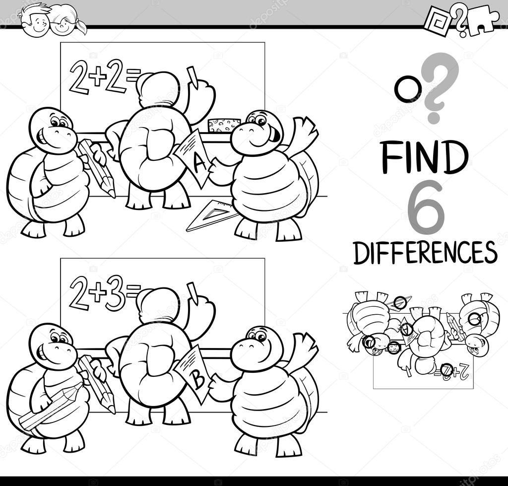 diferencias página para colorear — Vector de stock © izakowski ...