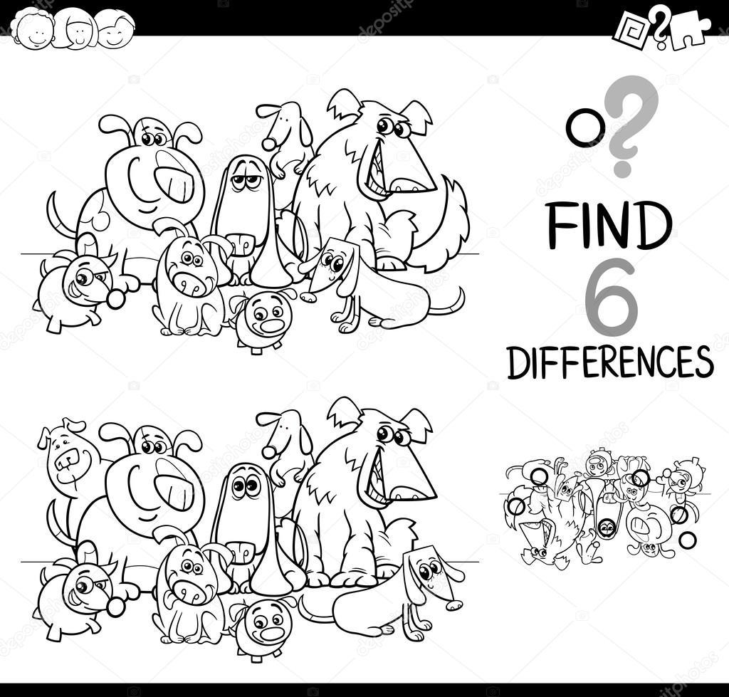 diferencias de tareas página para colorear — Archivo Imágenes ...