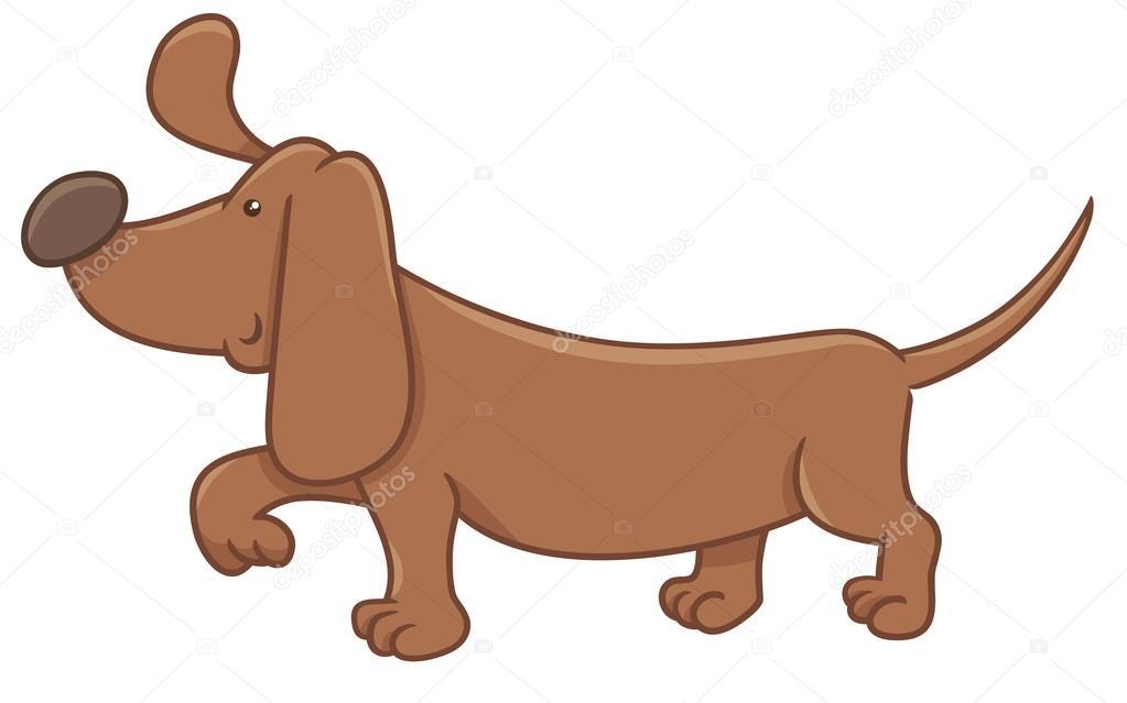Personaggio dei cartoni animati di bassotto cane u2014 vettoriali stock