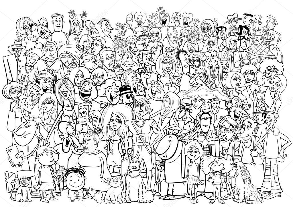 Multitud De Gente Silueta: Dibujos: Multitud De Personas