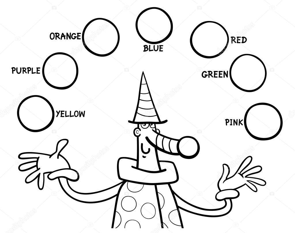 principales colores para colorear la tarea educativas — Vector de ...
