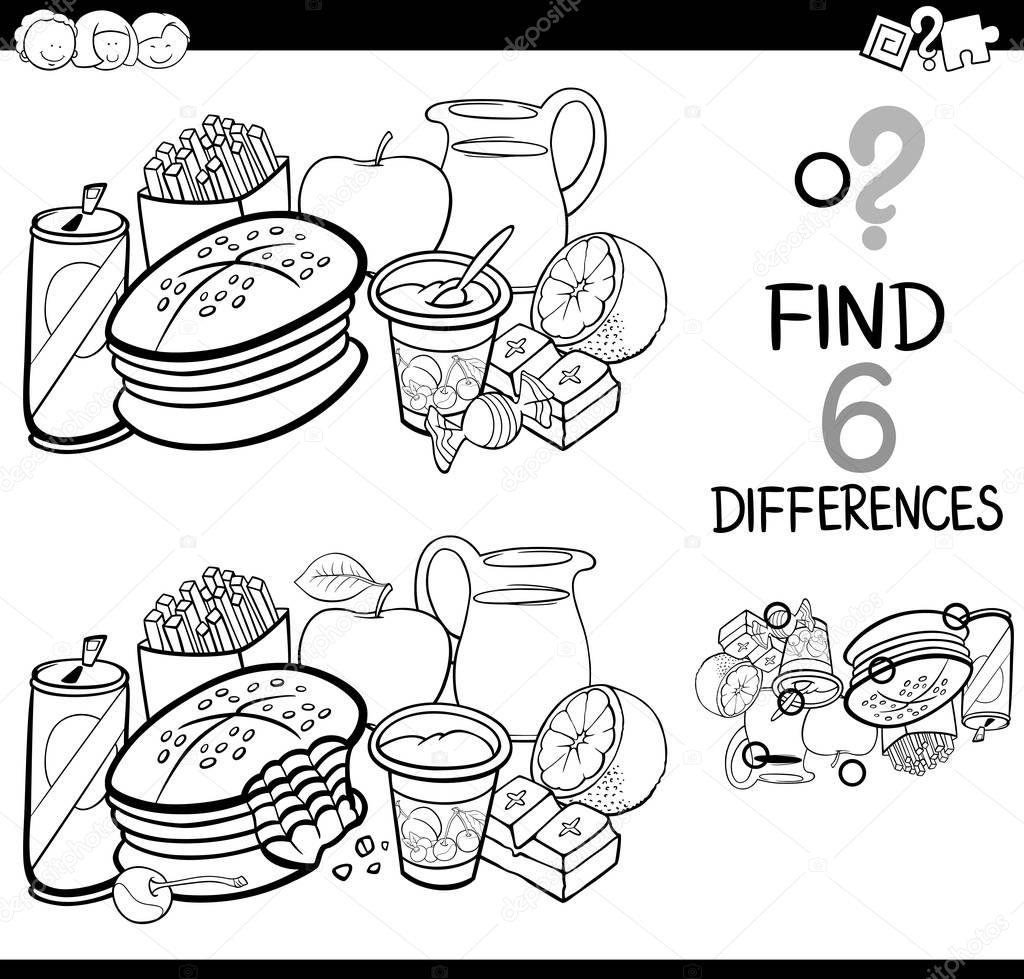 diferencias con la página del colorante del alimento — Archivo ...