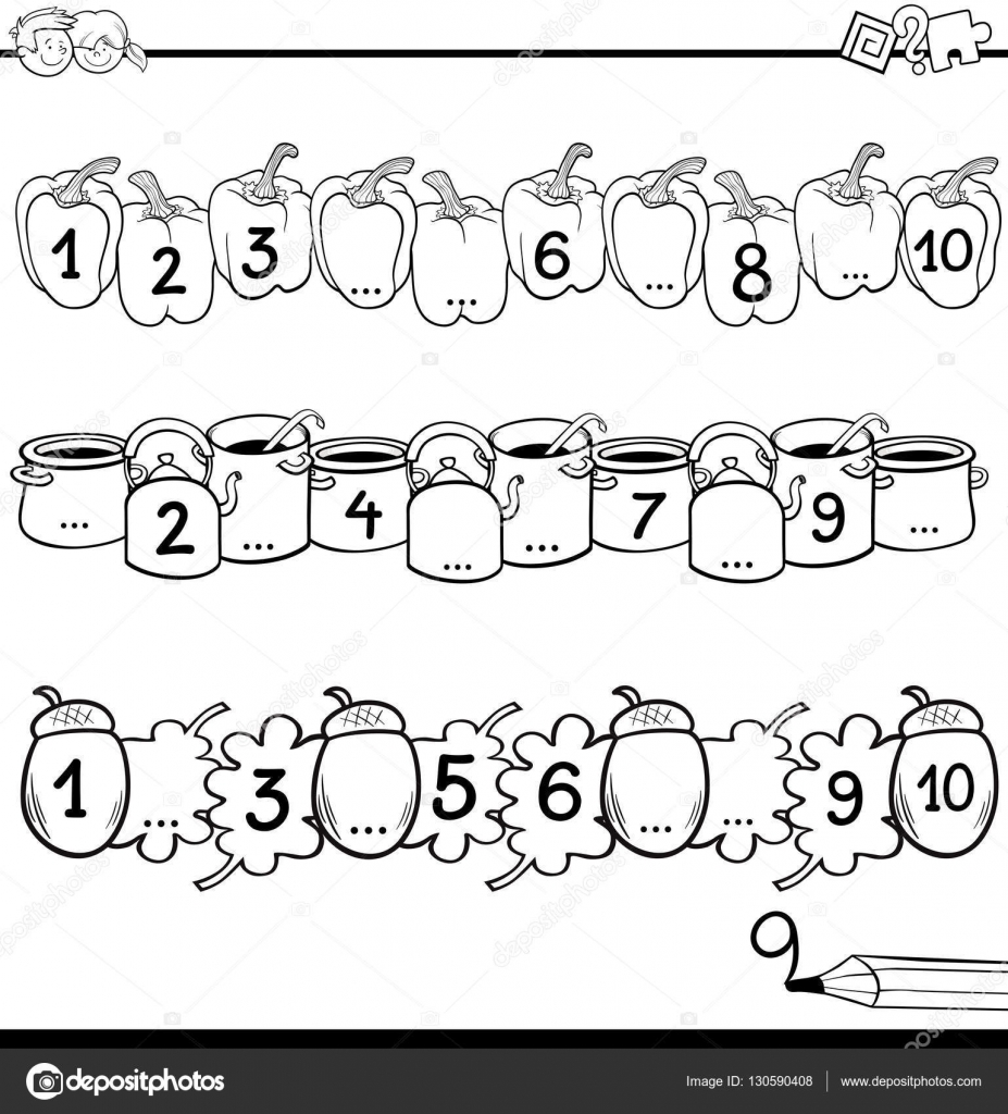 Mathe Erziehungsarbeit zum Ausmalen — Stockvektor © izakowski #130590408