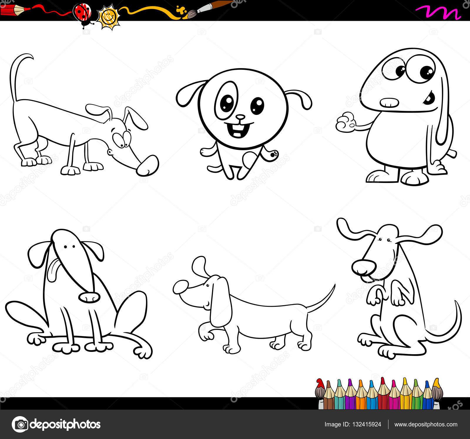 Malvorlagen Hund-Zeichen — Stockvektor © izakowski #132415924