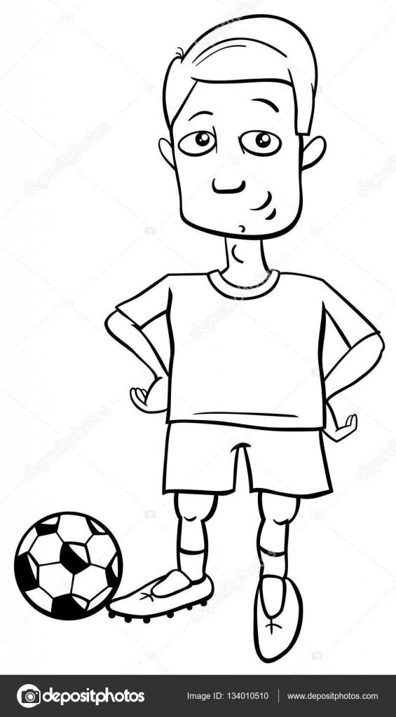 futbolista para colorear — Archivo Imágenes Vectoriales © izakowski ...