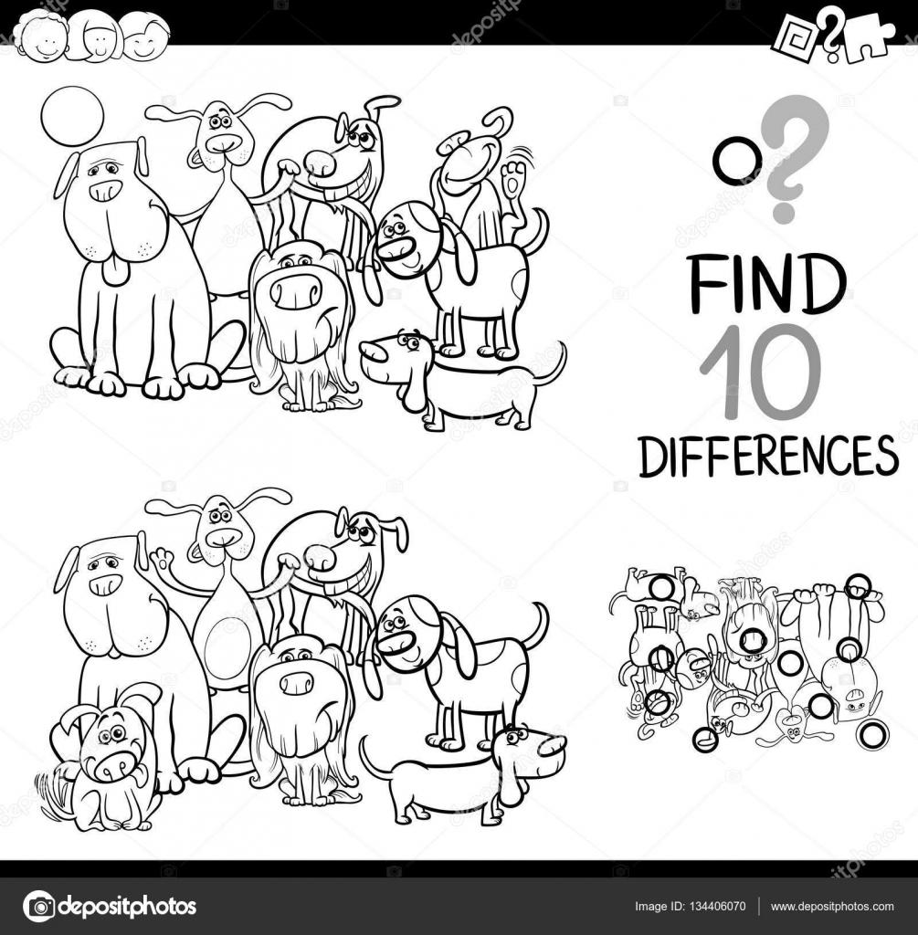 Spiel der Differenzen mit Hunde — Stockvektor © izakowski #134406070