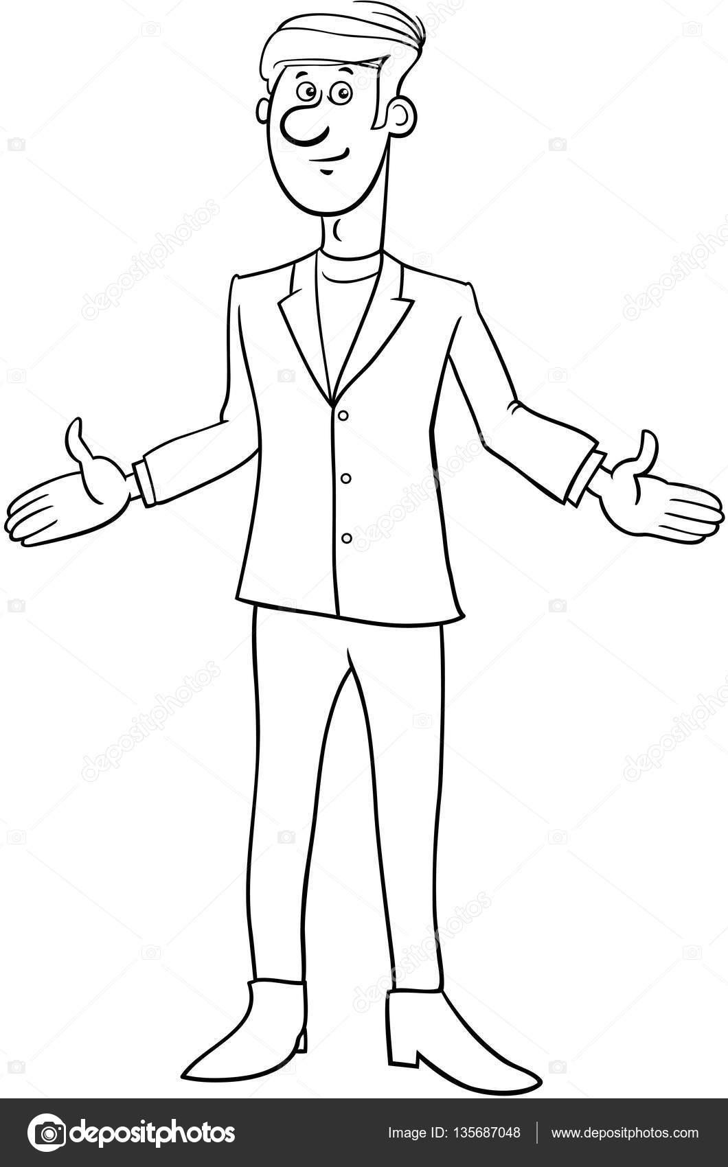 personaje de dibujos animados de empresario — Vector de stock ...