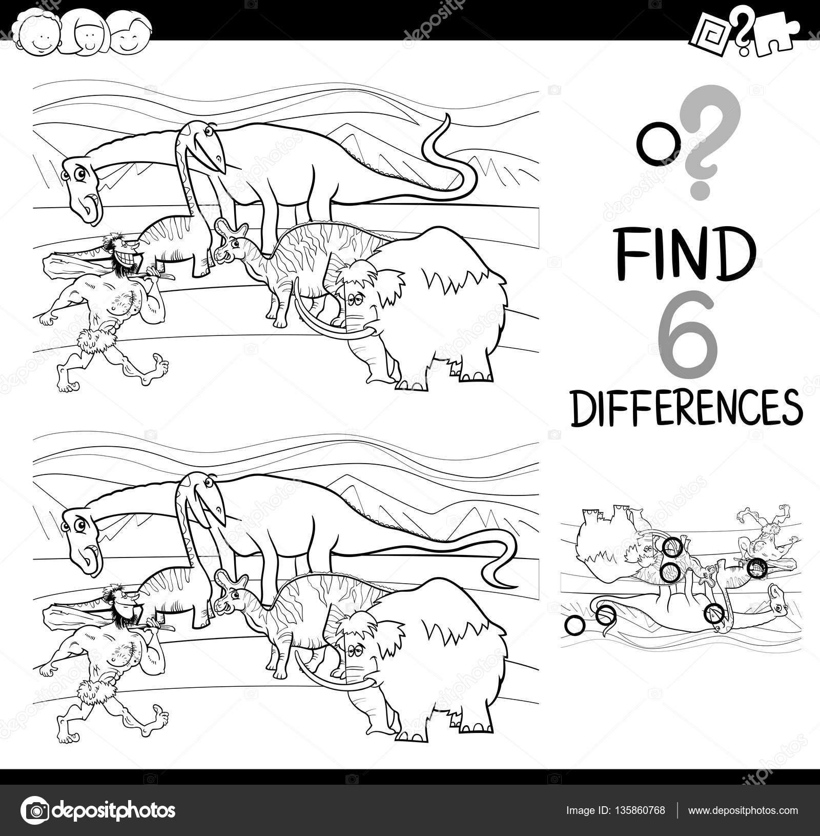 actividad diferencias para colorear — Vector de stock © izakowski ...