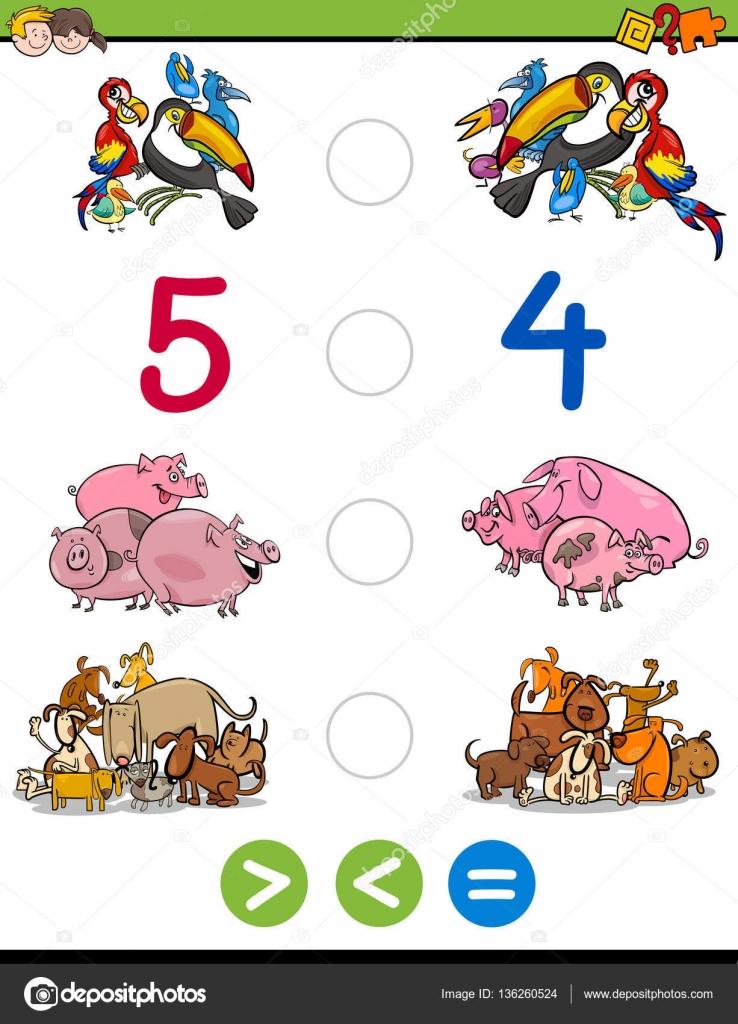 größer, kleiner oder gleich Spiel — Stockvektor © izakowski #136260524