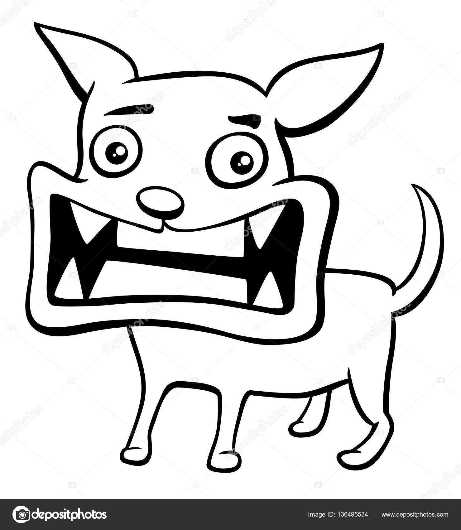 angry puppy coloring page — Stock Vector © izakowski #136495534
