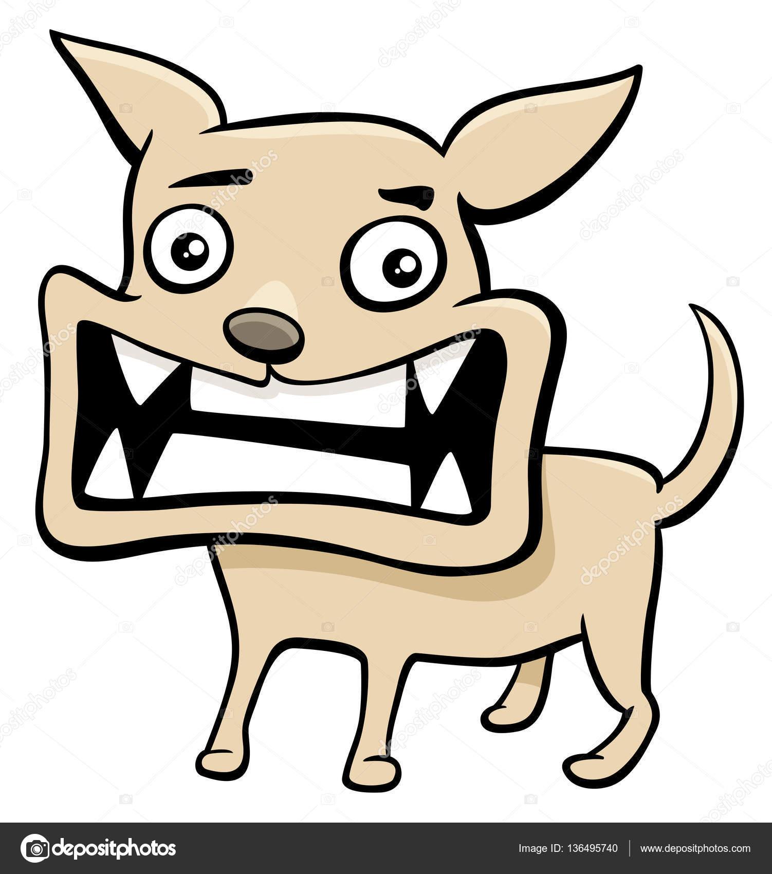 Ilustración de dibujos animados cachorro enojado — Vector de stock ...