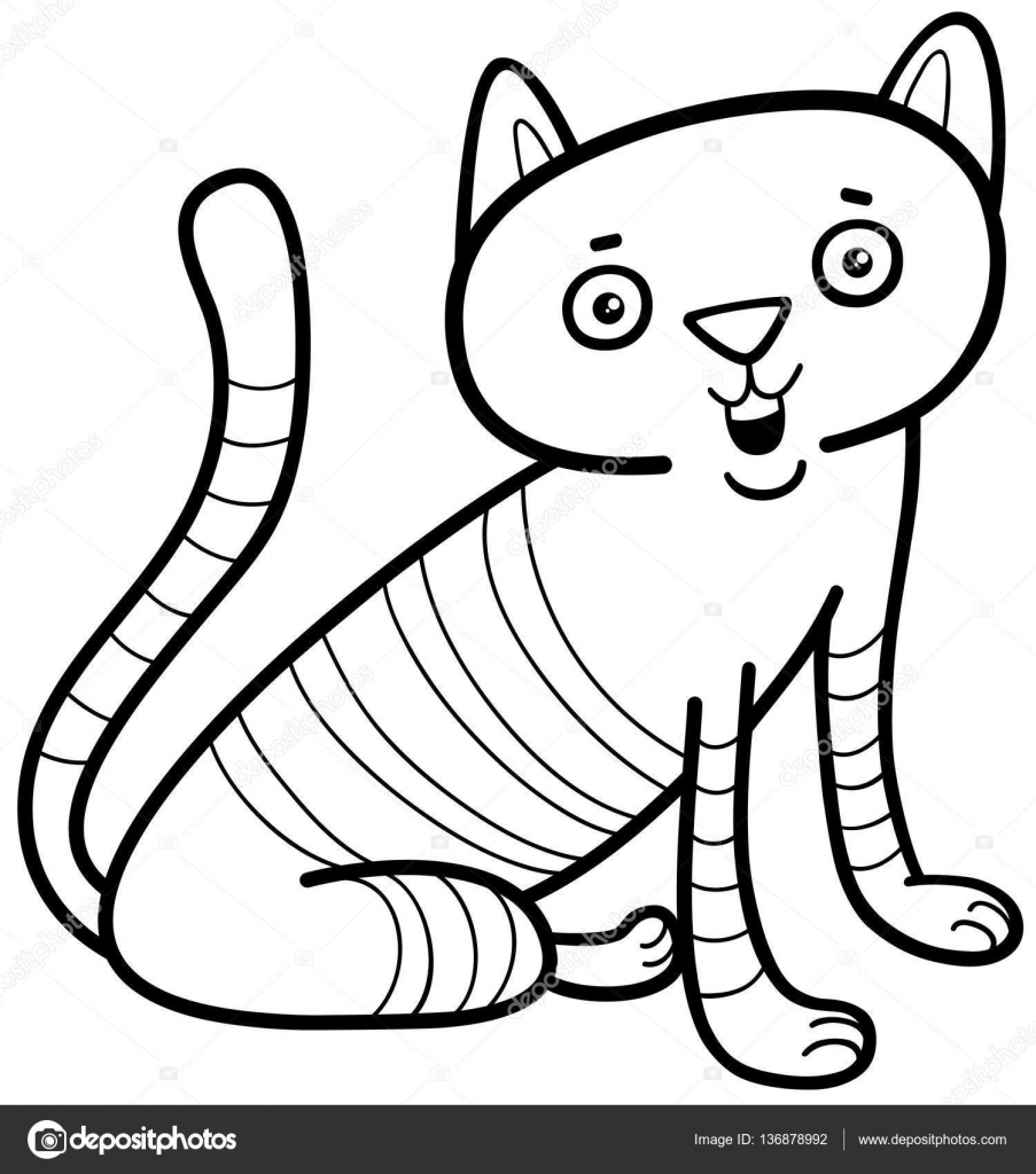 Página para colorear personaje de gato — Vector de stock © izakowski ...