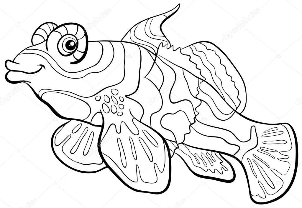 zinfandel coloring pages   Dibujos: pez mandarin para colorear   Página para colorear ...