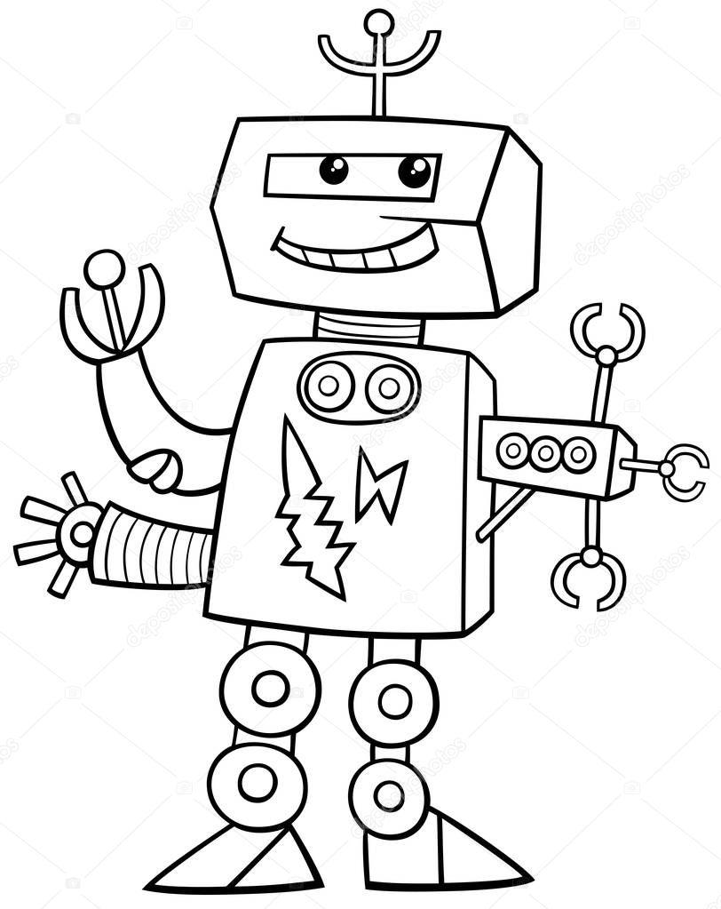 robot kleurplaat stockvector 169 izakowski 137919170