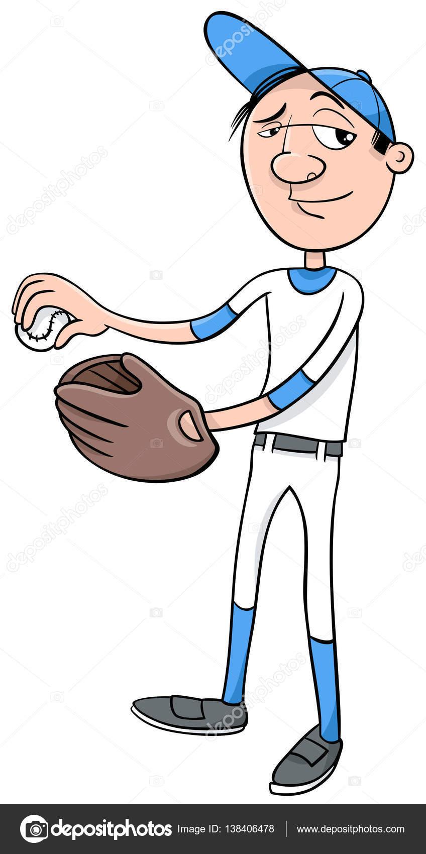 Baseball-Spieler-Charakter — Stockvektor © izakowski #138406478