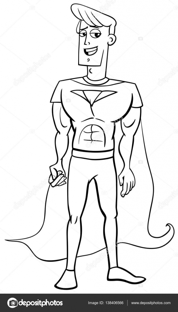 laveur de vitre super heroes coloring pages | superheld kleurplaat — Stockvector © izakowski #138406566