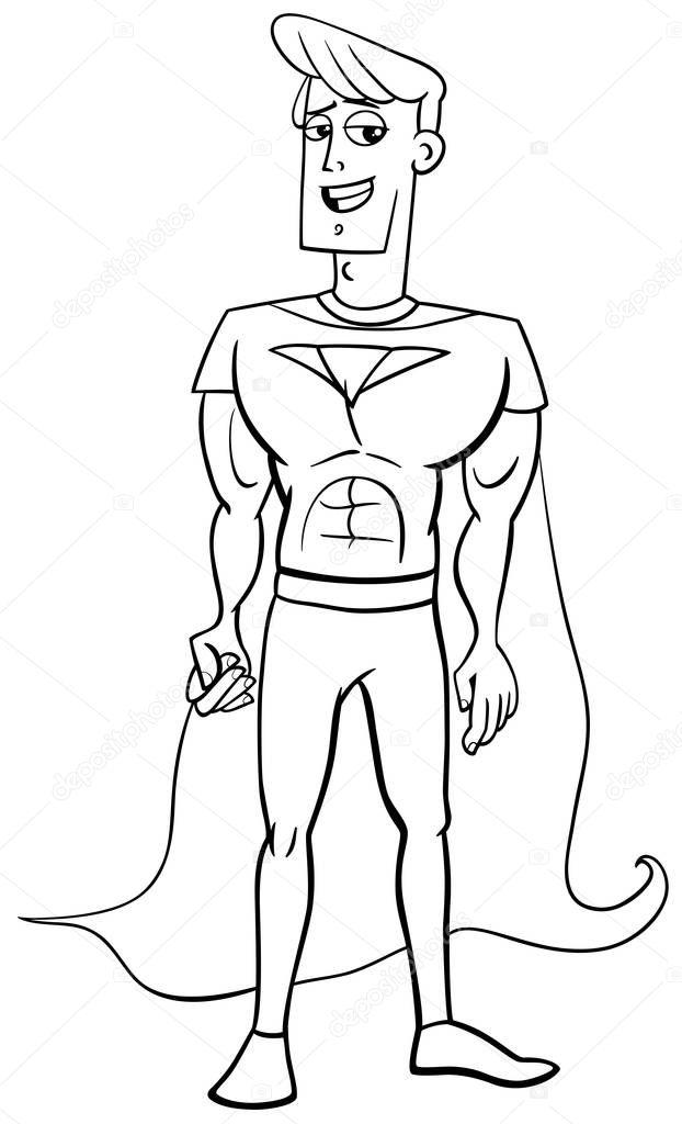 Superhero Coloring Page Stock Vector C Izakowski 138406566