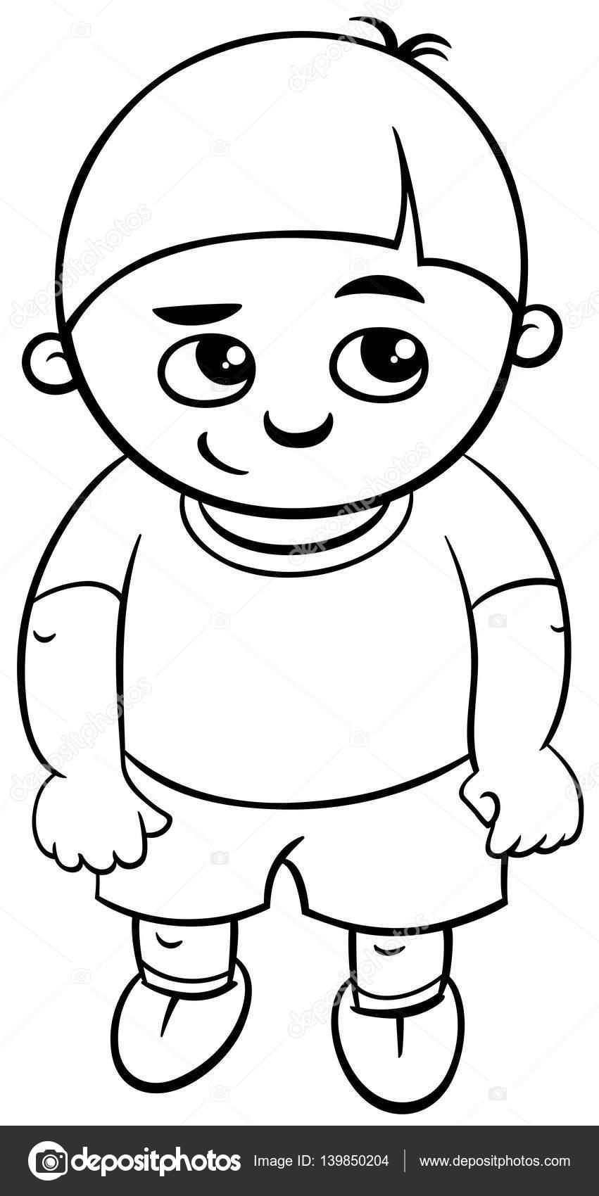 Okul öncesi çocuk Boyama Sayfası Stok Vektör Izakowski 139850204