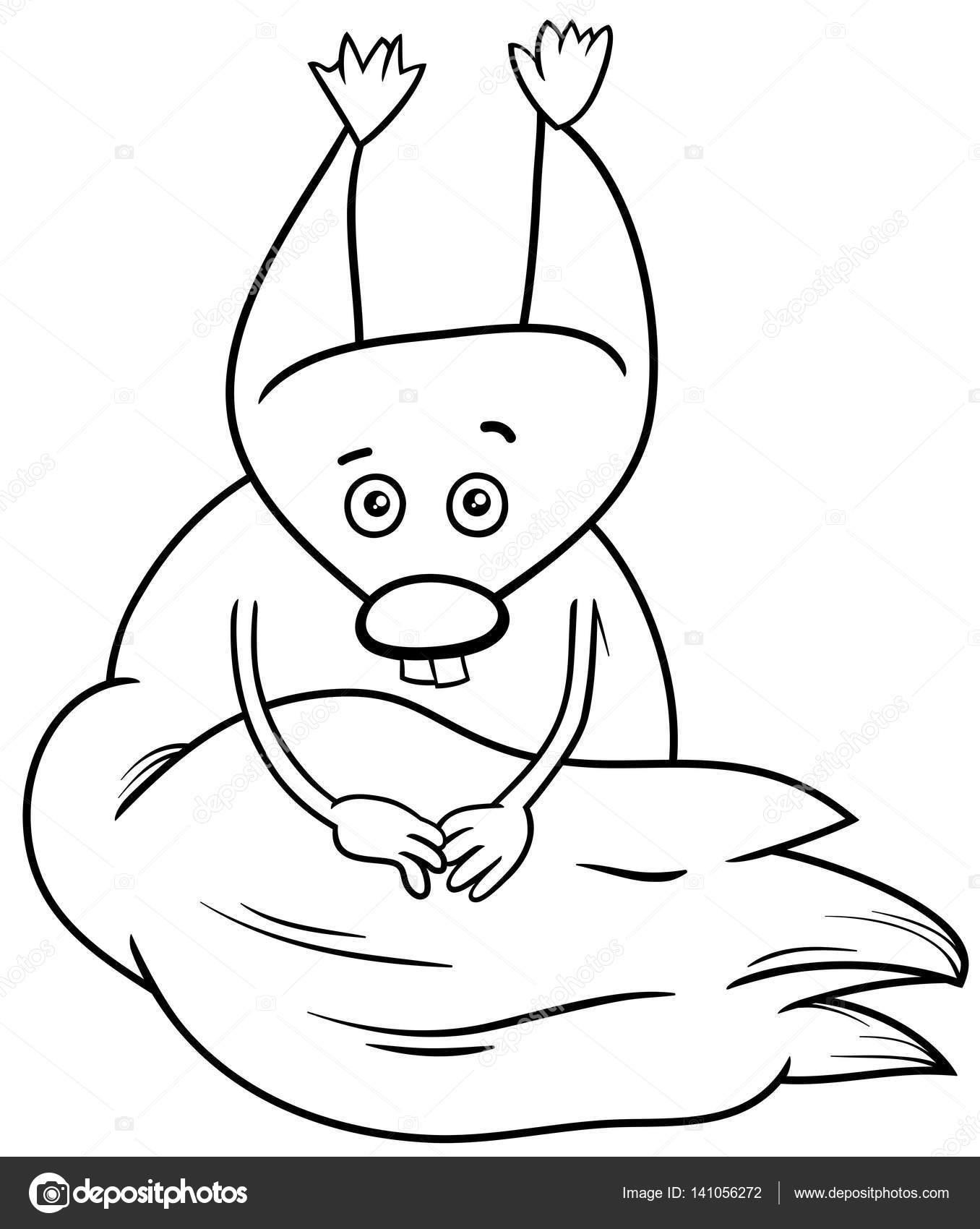 Kleurplaat Eekhoorn Cartoon Stockvector C Izakowski 141056272