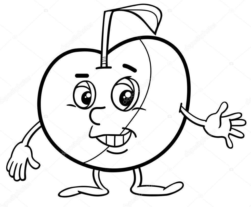 apple teken kleurplaat stockvector 169 izakowski 141056150