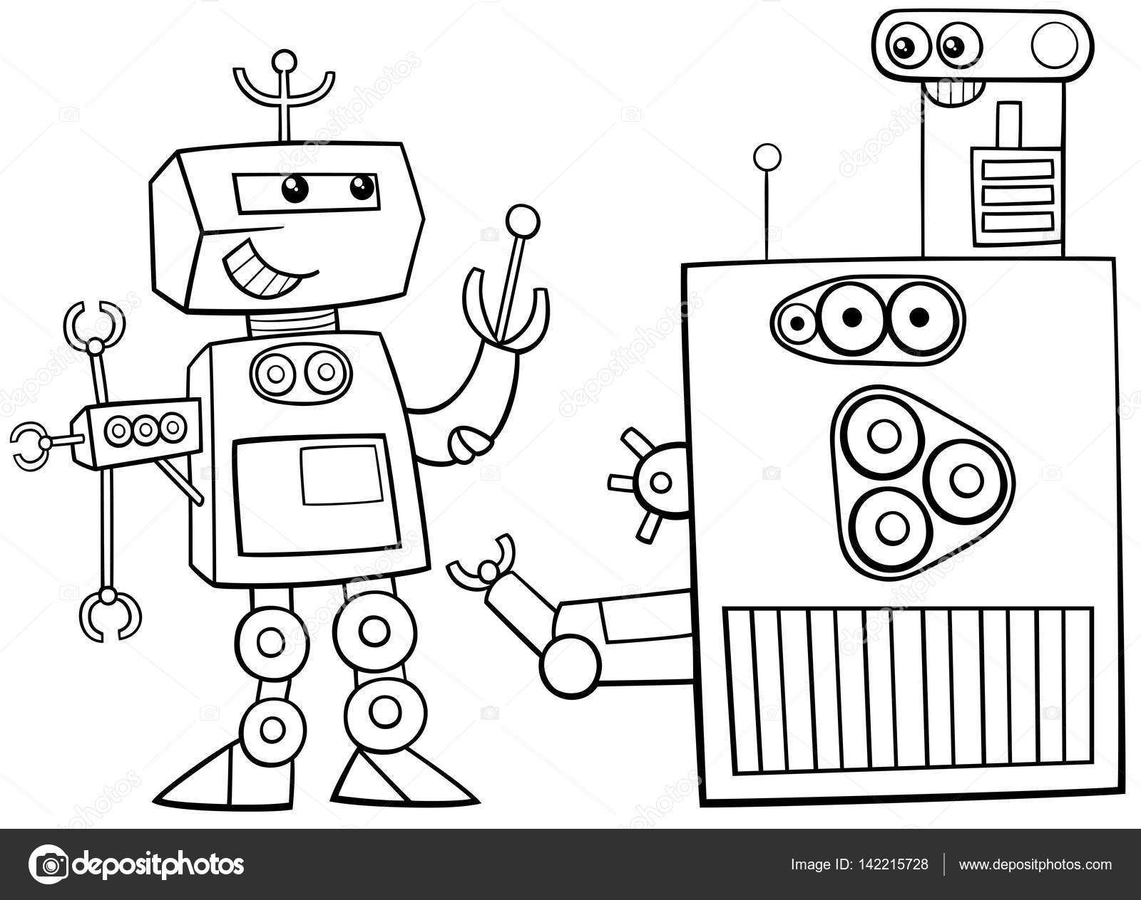 Roboter Charakter Malvorlagen Stockvektor Izakowski