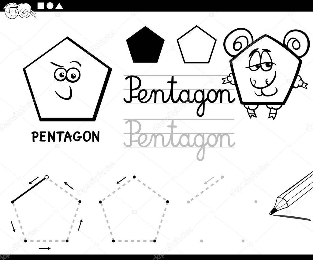 Animado: Pentagono Para Colorear