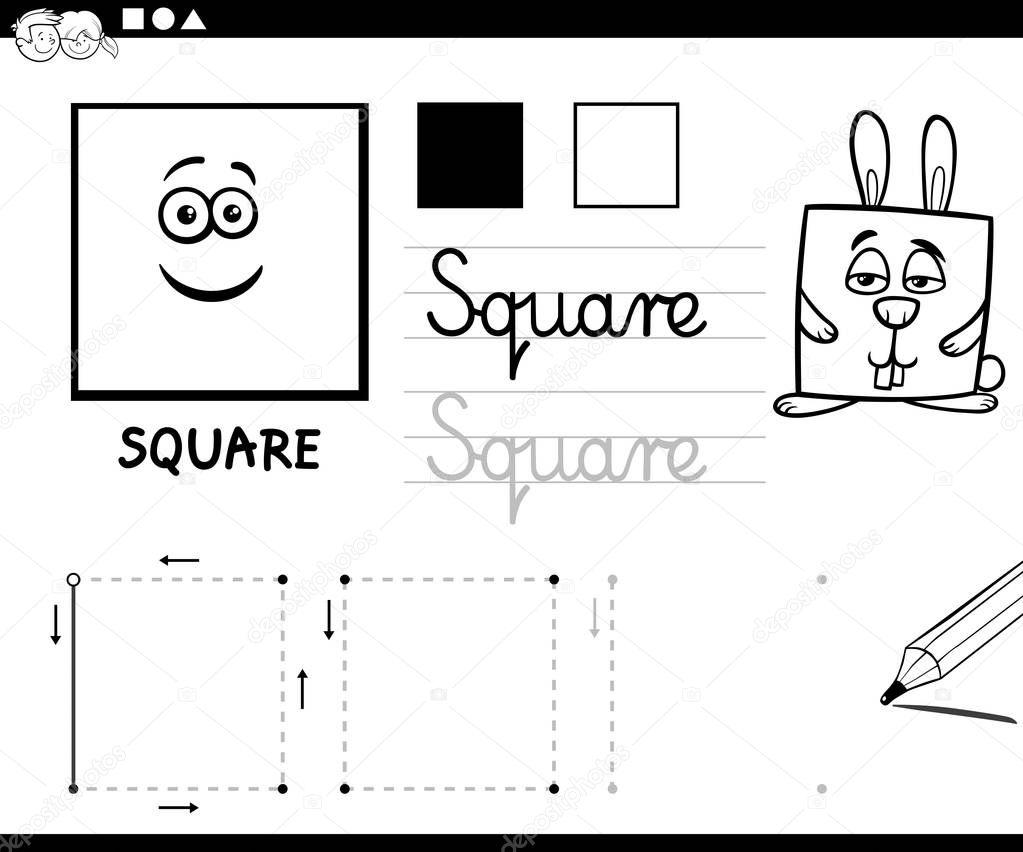 Imagenes Animadas Para Colorear: Dibujos: Figuras Cuadradas Animadas