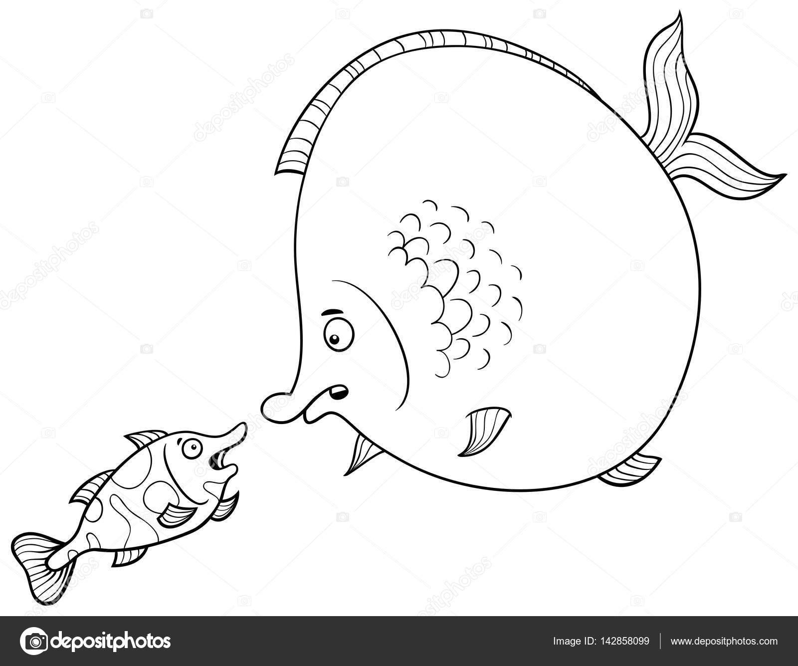 Balık Konuşan Boyama Sayfası Stok Vektör Izakowski 142858099