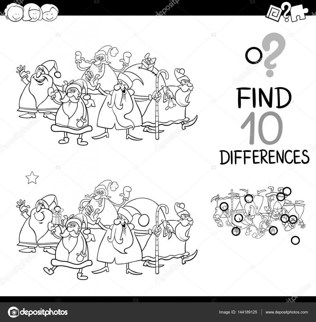 diferencias de Navidad para colorear — Vector de stock © izakowski ...