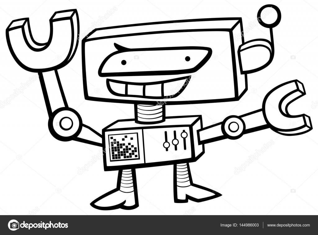 robot karakter kleurplaat stockvector 169 izakowski 144986003