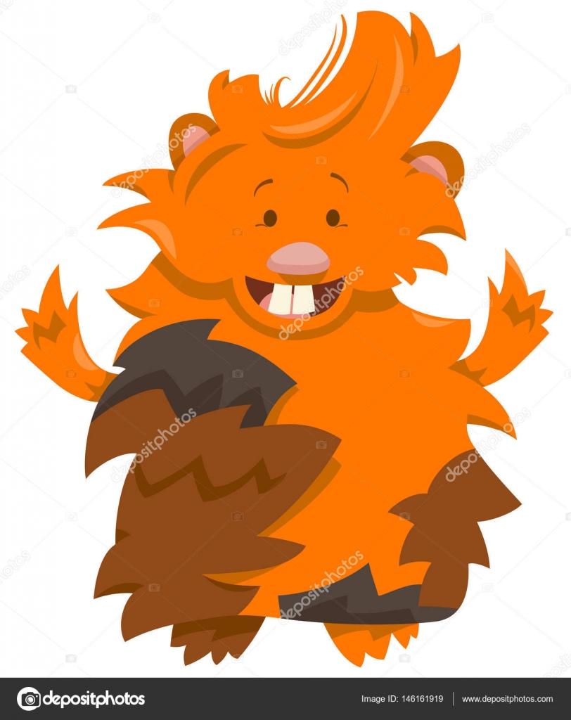 personaje de dibujos animados de conejillo de Indias — Vector de ...