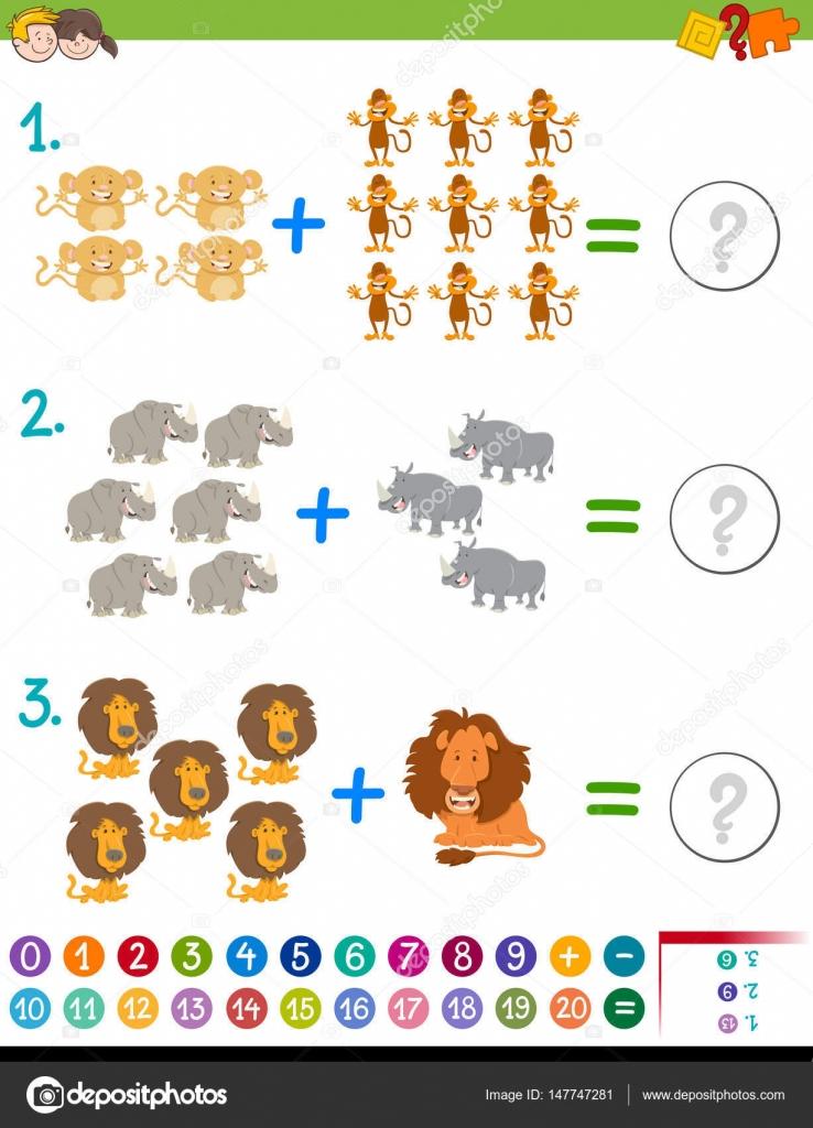 neben Mathematik Aktivität für Kinder — Stockvektor © izakowski ...
