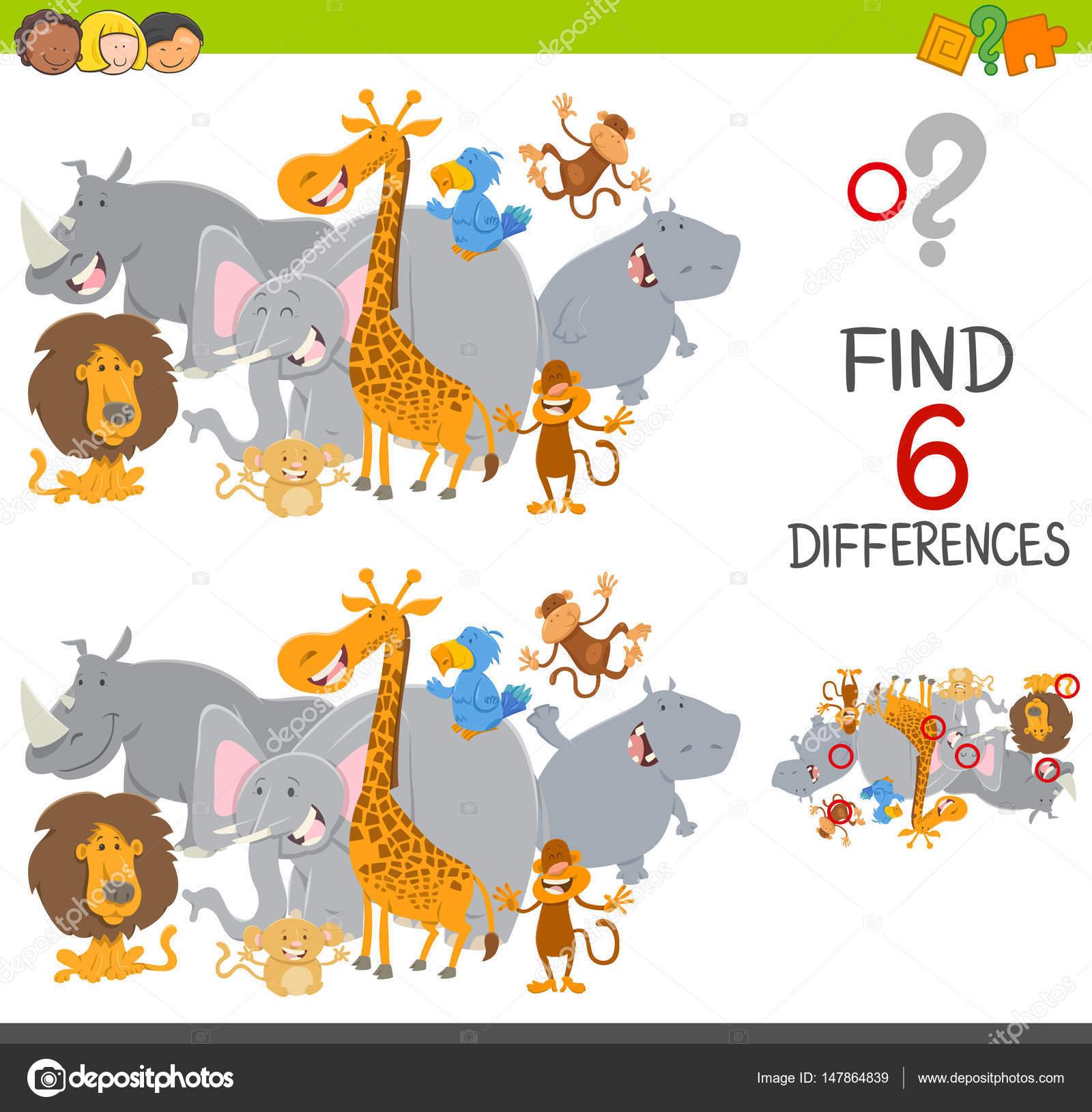 Suche die Unterschiede Spiel für Kinder — Stockvektor © izakowski ...