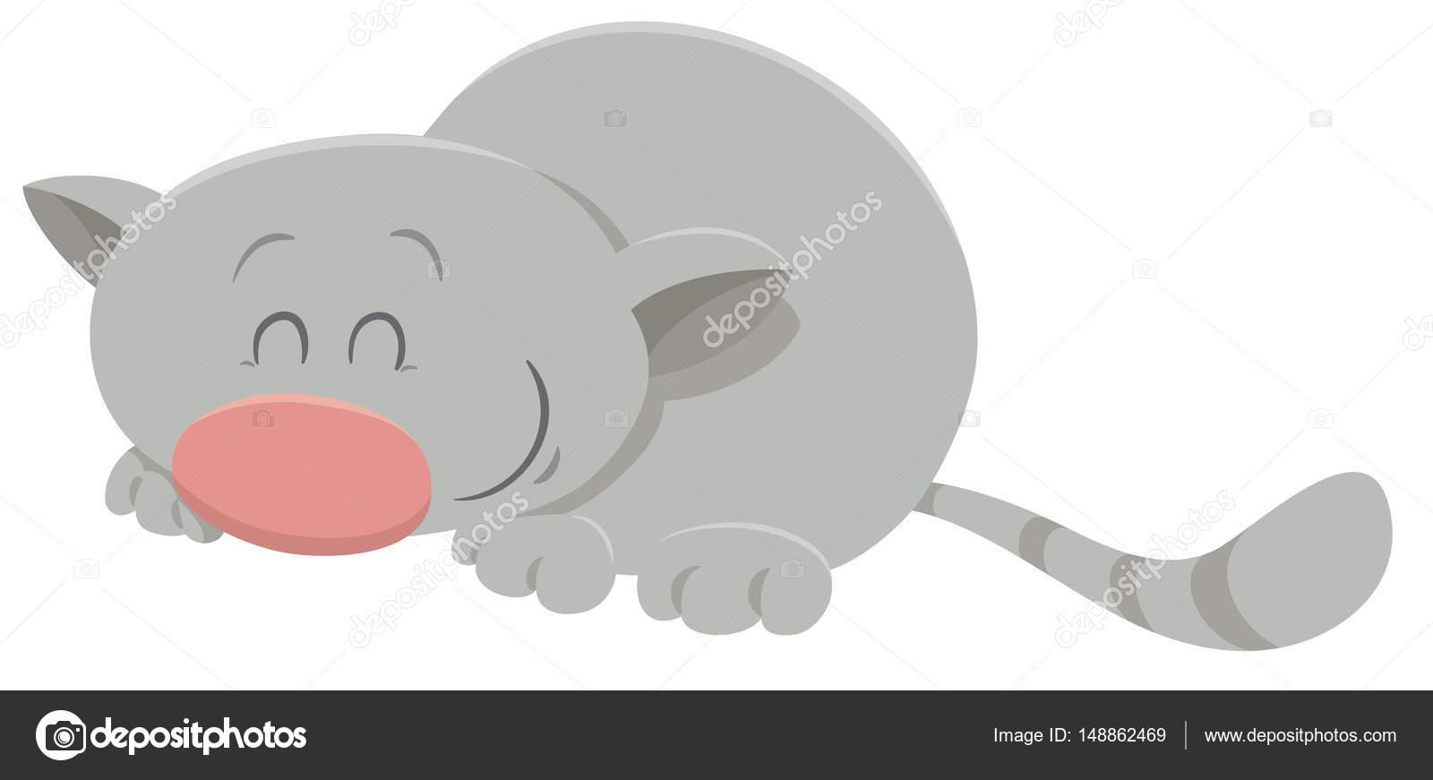 Personaggio dei cartoni animati di gatto di sonno u2014 vettoriali stock