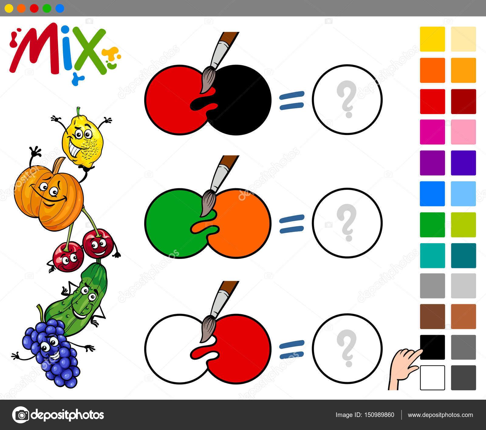 mezcla de colores juegos para nios u archivo imgenes vectoriales