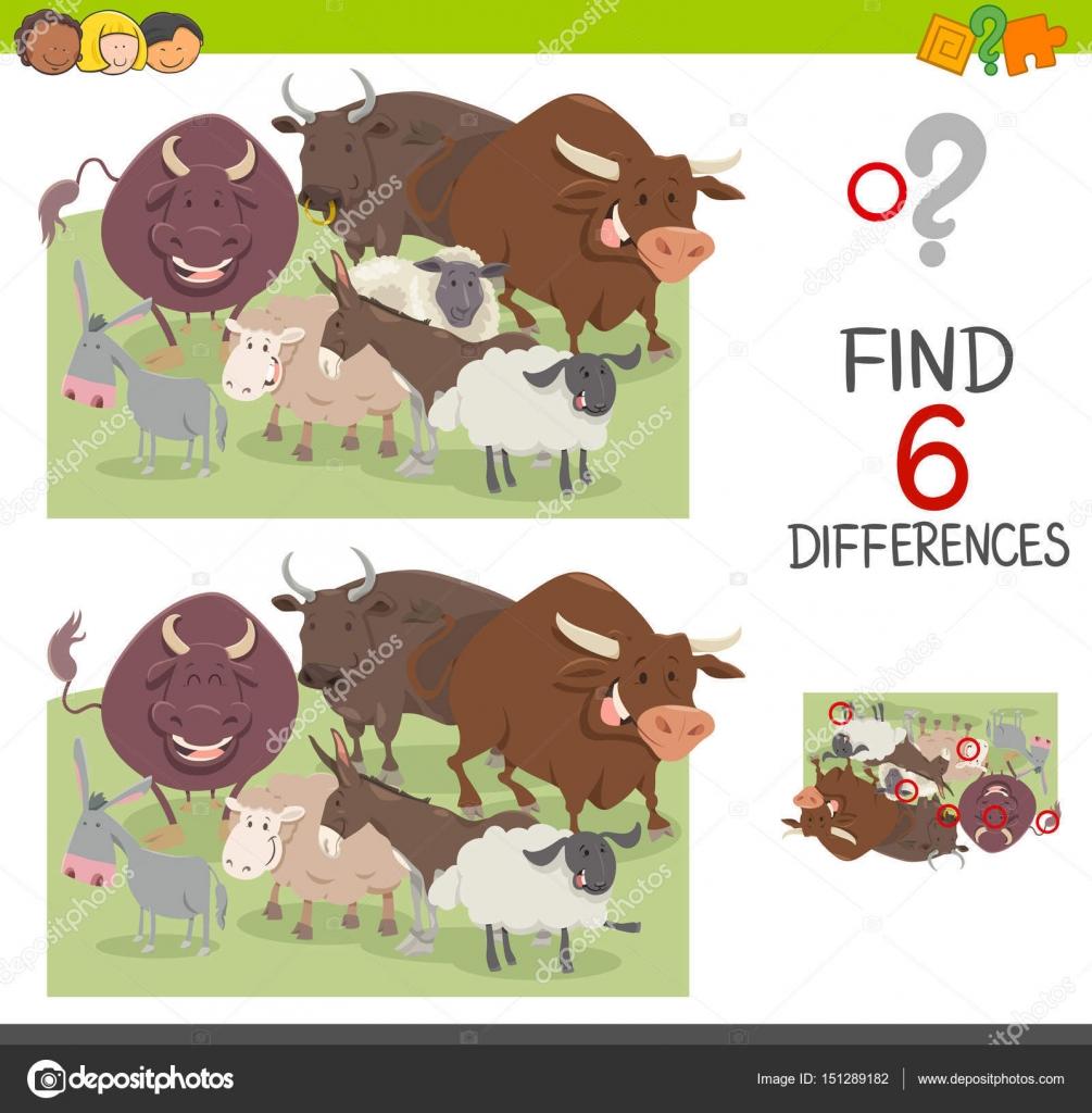 finde die Unterschiede-Arbeitsblatt — Stockvektor © izakowski #151289182