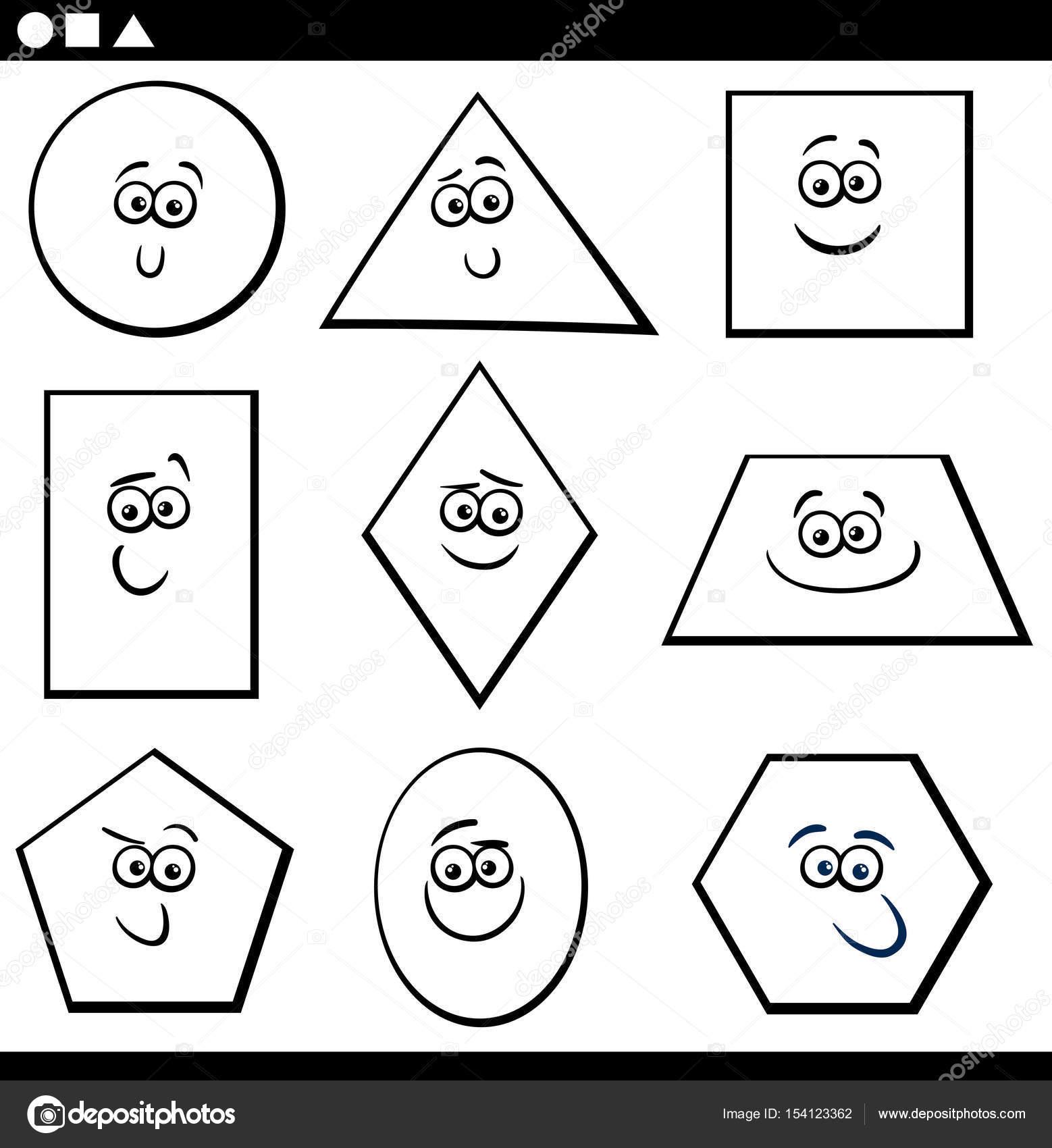 Boyama Temel Geometrik şekiller Stok Vektör Izakowski 154123362