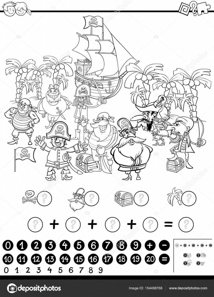 actividad matemática para colorear — Archivo Imágenes Vectoriales ...