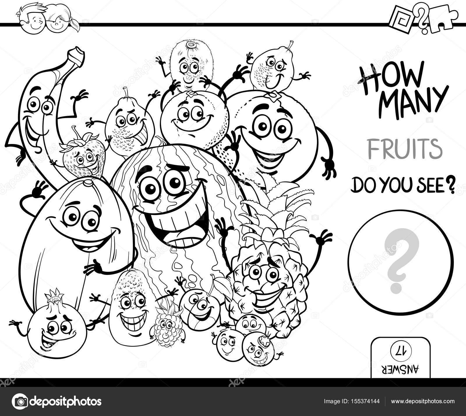 Dibujos Para Colorear Frutas Y Verduras Cuenta Frutas Para