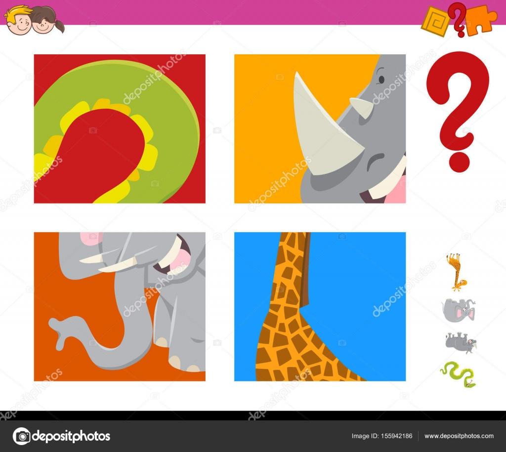 erraten Sie Tiere Aktivität Spiel — Stockvektor © izakowski #155942186