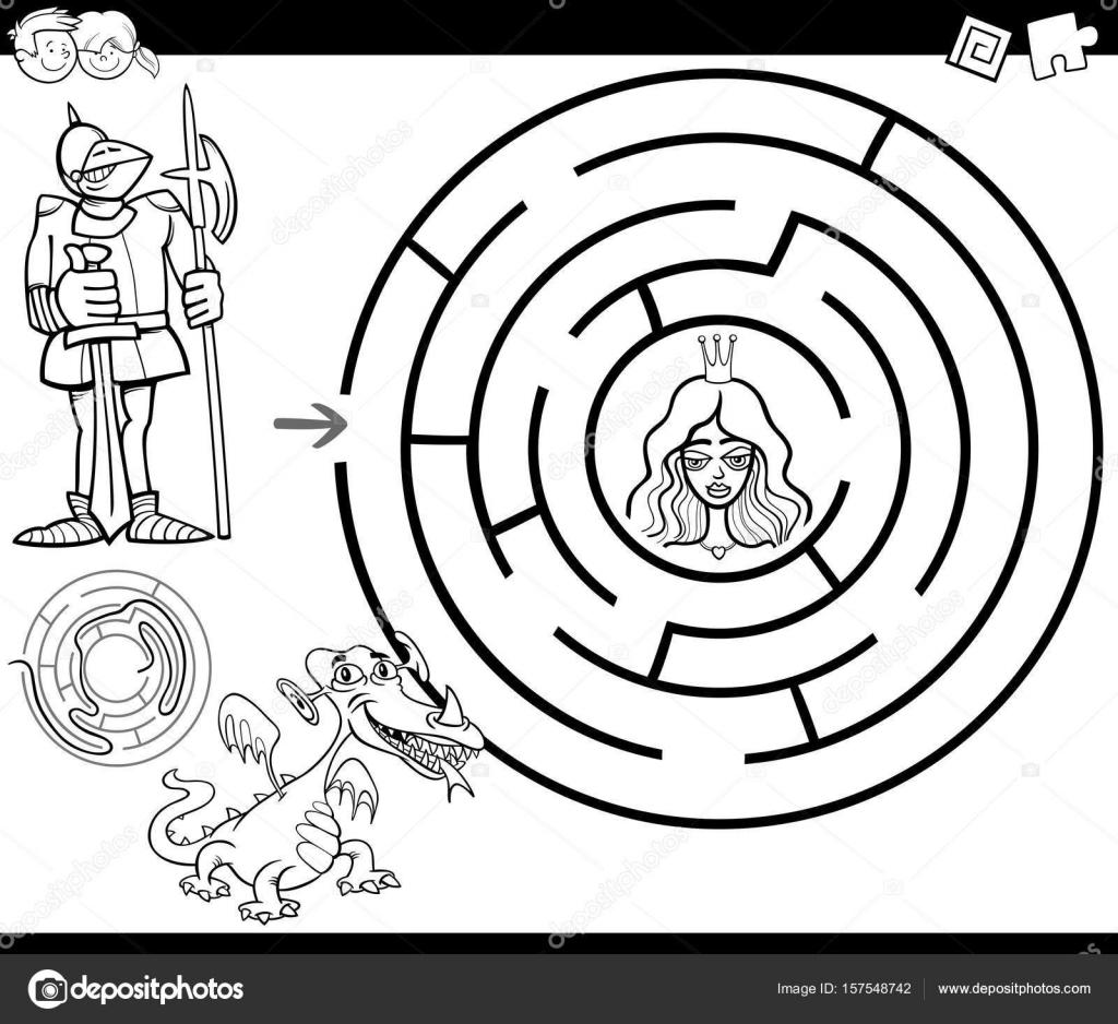 Labyrinth Malvorlagen Märchen Stockvektor Izakowski 157548742