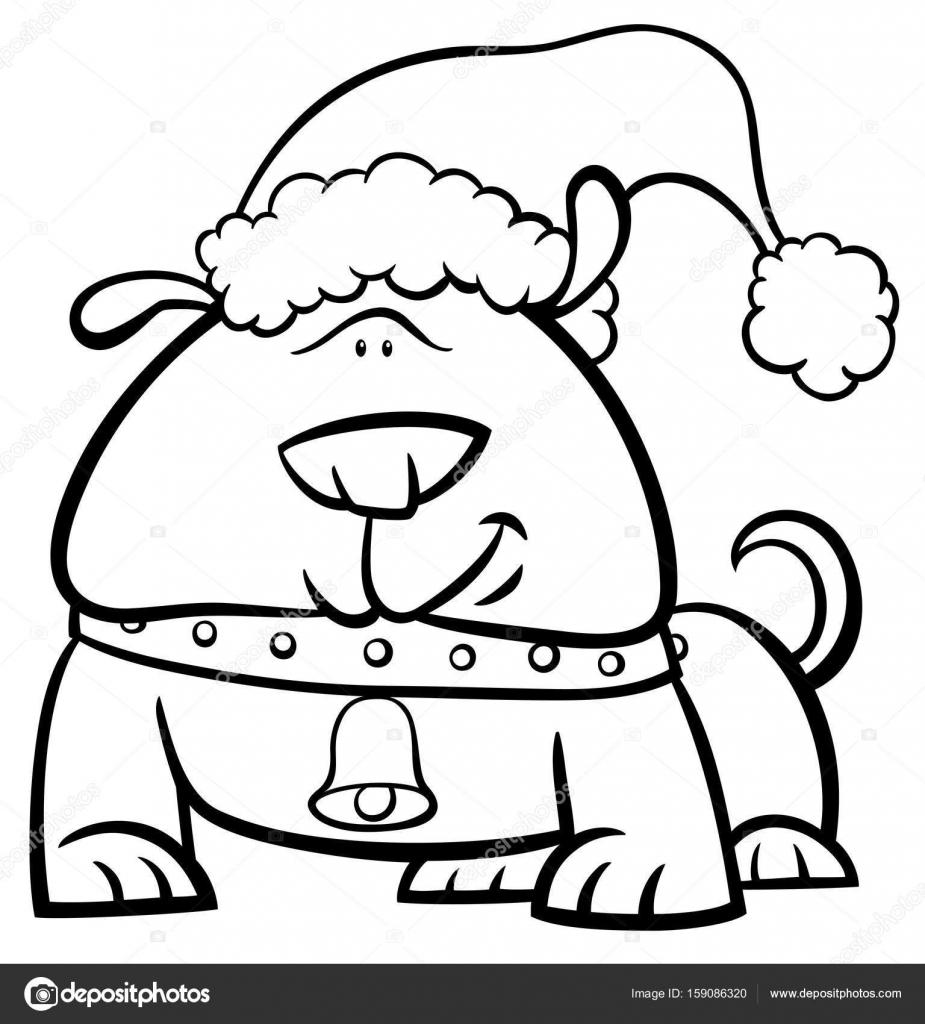 Perros De Navidad Para Colorear Perro En Navidad Para Colorear