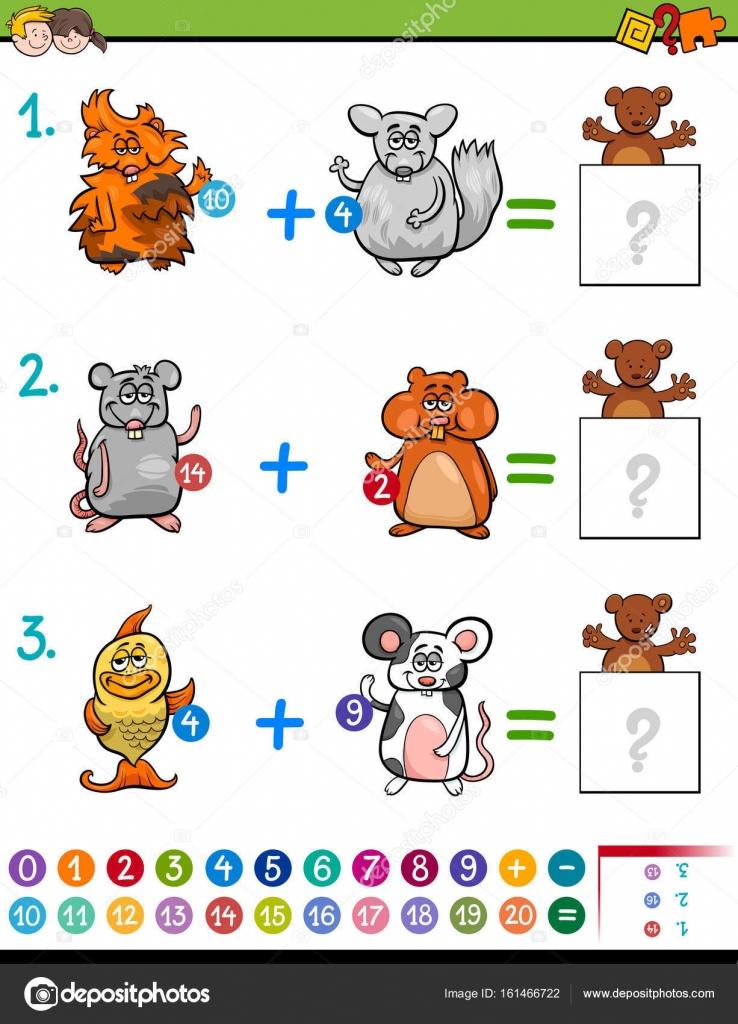 Neben pädagogischen Mathematik Aktivität für Kinder — Stockvektor ...