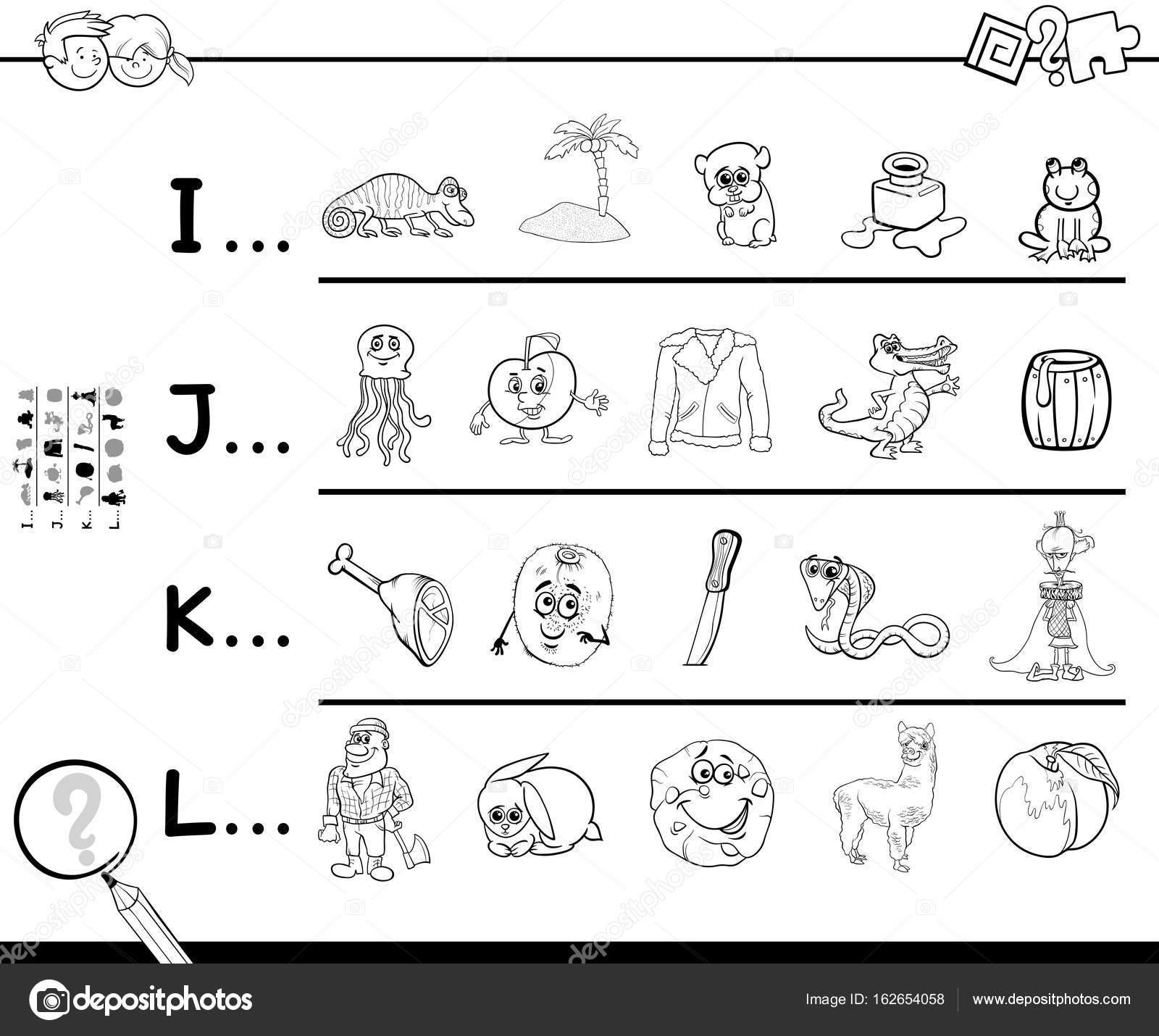 primera letra de una palabra página para colorear — Archivo Imágenes ...