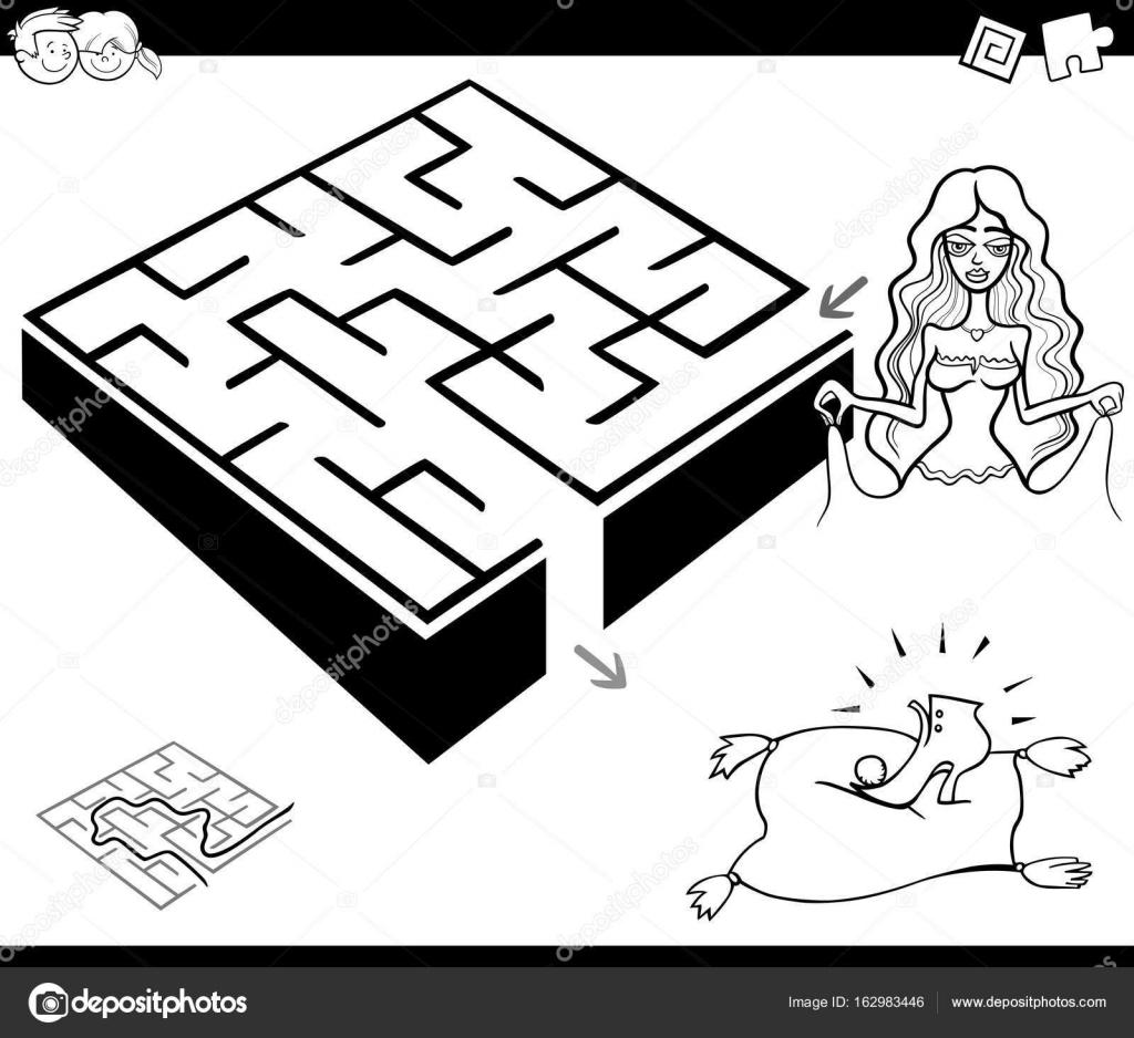 juego de la actividad del laberinto con la Cenicienta — Vector de ...